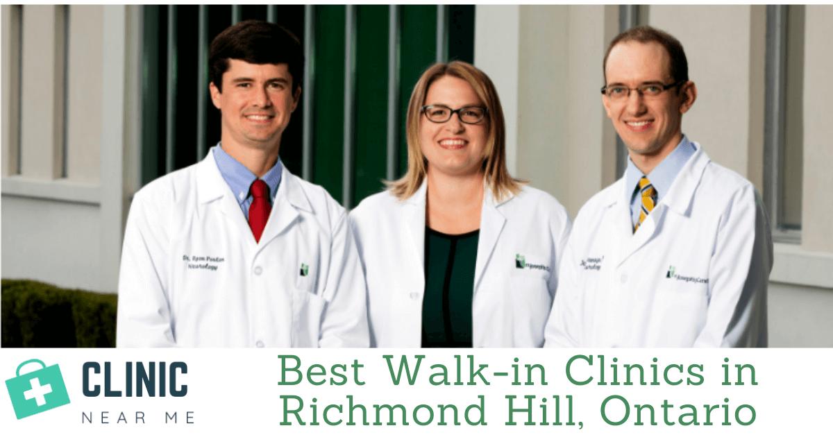 Walk in clinic Richmond Hill